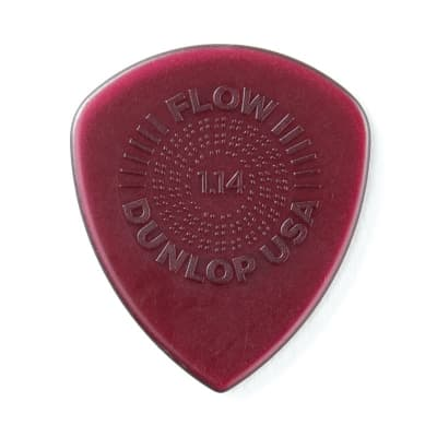 Dunlop 549R114 Flow Standard Grip 1.14mm Guitar Picks (24-Pack)
