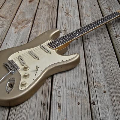 Danocaster Double Cut Strat-Style Faded Shoreline Gold Brazilian Rosewood! for sale