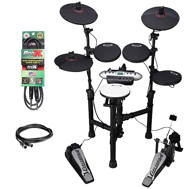 Carlsbro CSD130 Compact 9pc Electronic Drum Kit + MIDI and 1/4