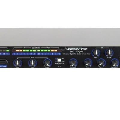 VocoPro DA-2200 Pro Six-Microphone Karaoke Rack Audio Mixer - New Open Box