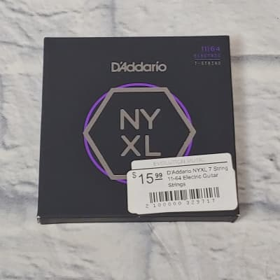 D'Addario NYXL 7 String 11-64 Electric Guitar Strings