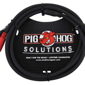 """Pig Hog PYIC03 Dual 1/4"""" TRS Male Insert Cable - 3'"""