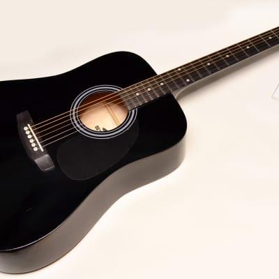 Stadium D-42 Acoustic Guitar Black Finish Professionally Setup! for sale