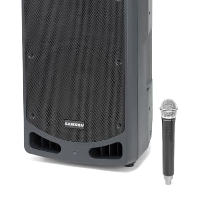Samson Expedition XP312w-K 300-Watt Portable PA System with Wireless Microphone (K-Band: 470-494 MHz)