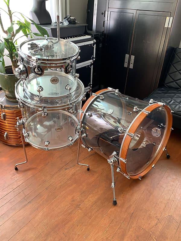 dw clear acrylic 3 piece drum set 22 16 12 rlrlrrlrlrll reverb. Black Bedroom Furniture Sets. Home Design Ideas