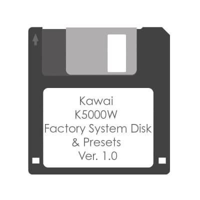 Kawai K5000W System Disk - Factory Presets & Sounds - Floppy Disk Ver. 1.0