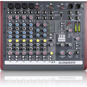 Allen & Heath ZED-10FX 10-Channel USB Audio Mixer with On-Board Effects