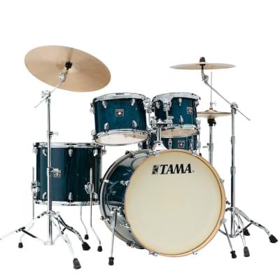 Tama Superstar Classic 5pc Drum Set w/ 22bd - Gloss Sapphire Lacebark Pine