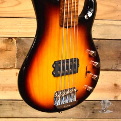 Music Man BFR StingRay 5 Special 5 String Fretless Bass Vintage Sierra Burst w/ Case