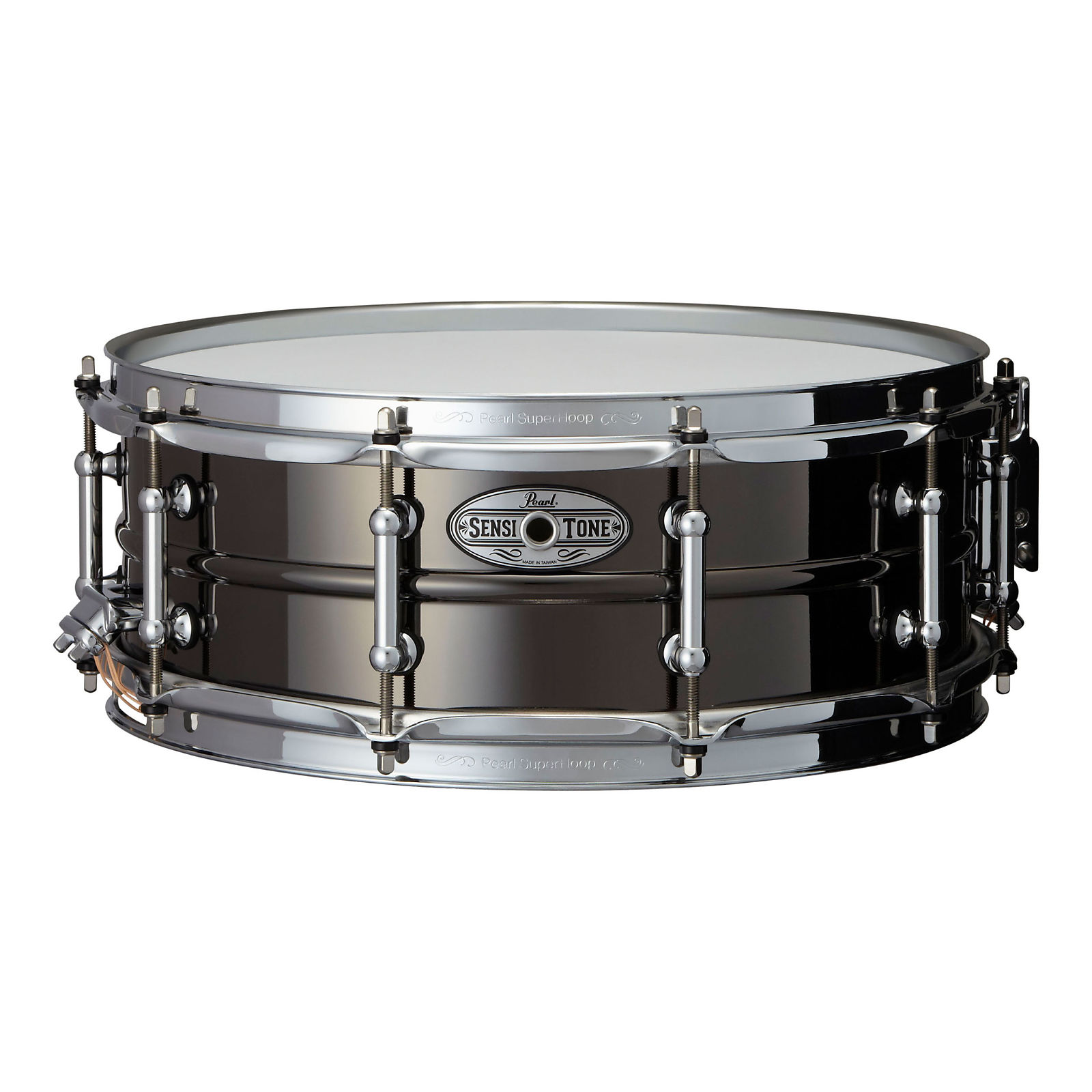 Pearl STA1450BR 14 x 5 Inches Sensitone Snare Drum Beaded Black Nickel over Brass