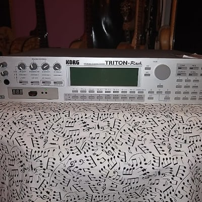 Korg  Triton Rack w/ 4 EXB-PCM Boards & Flash drive