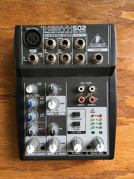 behringer xenyx 502 mixer w power supply reverb. Black Bedroom Furniture Sets. Home Design Ideas