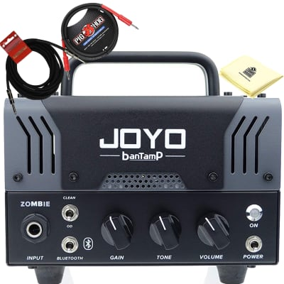 JOYO Zombie Bantamp 20w Pre Amp Tube Hybrid Guitar Amp head with 2 Instrument Cable and Zorro Cloth for sale