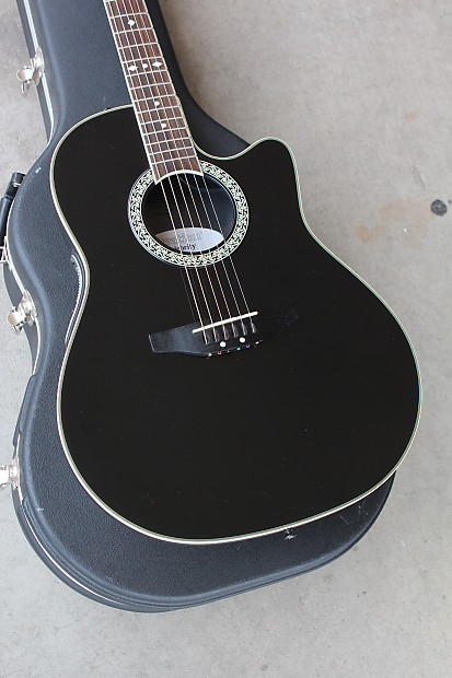 ovation model cc057 celebrity cutaway acoustic guitar black reverb. Black Bedroom Furniture Sets. Home Design Ideas
