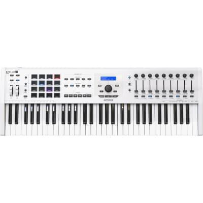 Arturia KeyLab MKII 61 - Professional MIDI Controller and Software (White)
