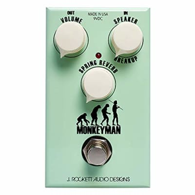 J. Rockett Audio Designs Tour Series Monkeyman Distortion Guitar Effects Pedal with Spring Reverb for sale