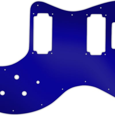 WD Custom Pickguard For Peavey T-60 #10DBU Dark Blue Mirror