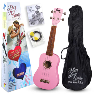 Kay U12PP Pink Soprano Ukulele Package (Free Shipping) for sale