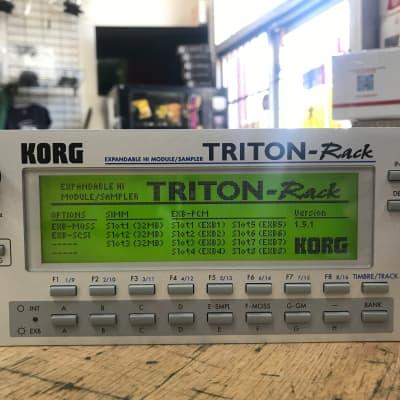 Korg TRITON-Rack Module/Sampler Loaded with 8 EXB Cards, 96 MB SIMM, MOSS Board (KLM-2076), SCSI
