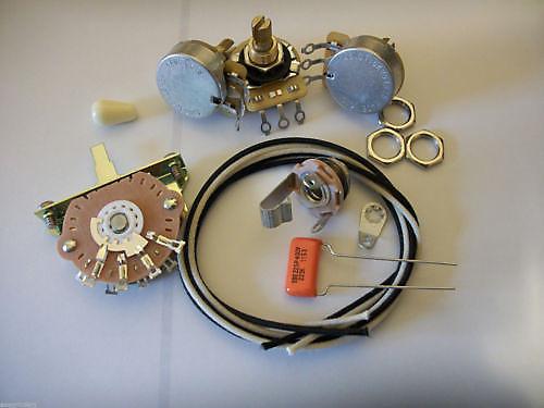 custom spec wiring harness upgrade kit for stratocaster cts reverb. Black Bedroom Furniture Sets. Home Design Ideas