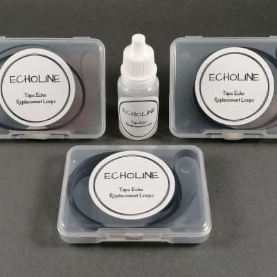 30X MEAZZI Echomatic Echo tape loops - SHORT loop + Tape Head Cleaner - tapes