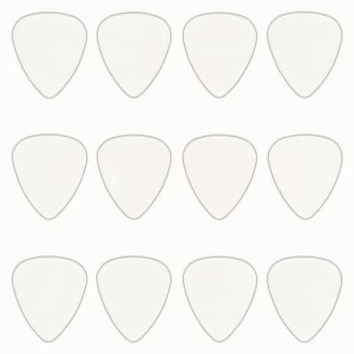 Celluloid Clear Guitar Or Bass Pick - 0.71 mm Medium Gauge - 351 Shape - 12 Pack New