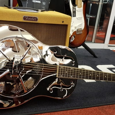 Ozark Deluxe resonator guitar (3615) nickle plated for sale