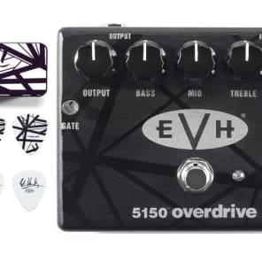 f34175f3cb4 MXR EVH 5150 Overdrive Guitar Pedal Eddie Van Halen ( EVH BLACK   WHITE  STRIPES PICK