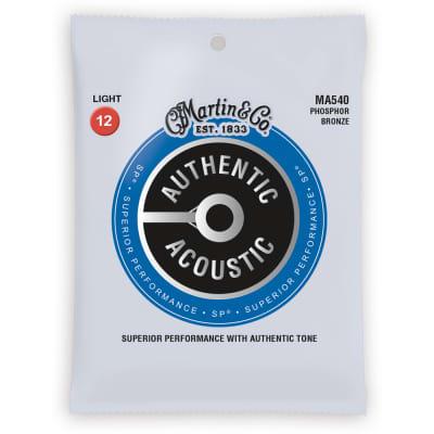 Martin Authentic SP Phosphor Bronze Acoustic Guitar Strings Light MA540
