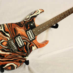 Custom Swirl Painted and Upgraded Ibanez RG 220 B (Made In