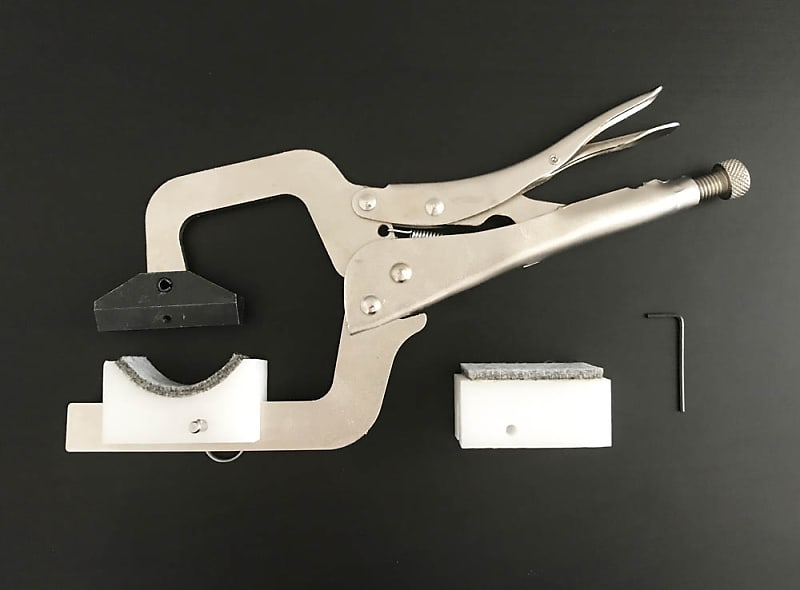 Elmer Guitar Handheld Fret Press Clamp With 4 Support Cauls