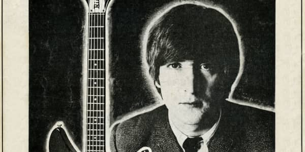 How John Lennon Ended Up in an Ad for a Guitar He Only Played Once