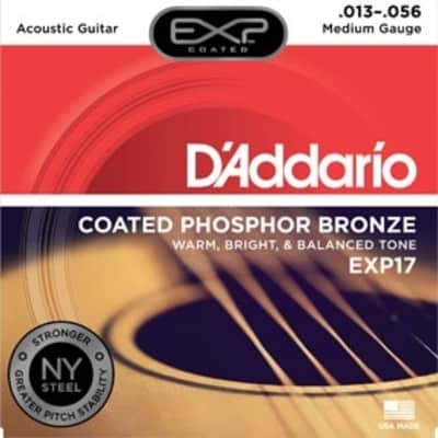 D'Addario EXP Coated Acoustic Guitar Strings - Medium