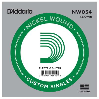 D'Addario NW054 Nickel Wound Single Guitar String .054
