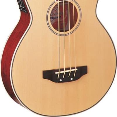 Oscar Schmidt Cutaway Natural Acoustic/Electric Bass, Spruce Top,OB100N W/Gigbag for sale