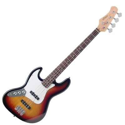 Stagg B300LH-SB Fusion Solid Alder Body Hard Maple Neck 4-String Electric Bass Guitar For Left Hand