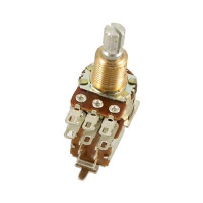 Bourns PDB183-500-1 Mini Guitar Potentiometer With Push-Pull Switch ±20% Tolerance 500 koh