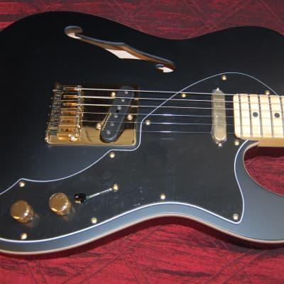 MINT! Fender LTD Deluxe Telecaster Thinline Gold Hardware Satin Black Limited - Authorized Dealer for sale