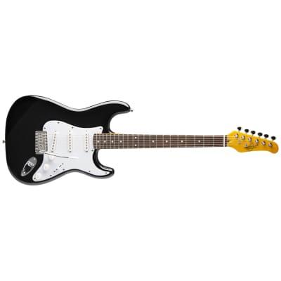 Oscar Schmidt OS-300-BK-A Strat-style Electric Guitar (Black) OS300