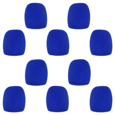 Microphone Windscreen - 10 Pack - Blue - Fits Shure SM58, Beta 58A & Similar - Vocal Mic Cover New