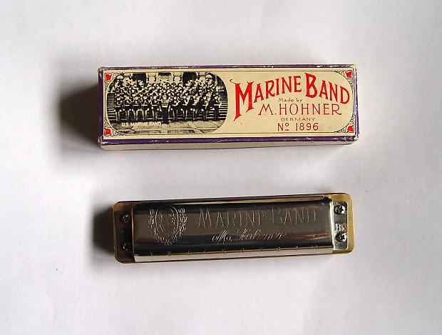 vintage hohner marine band harmonica key bb customized reverb. Black Bedroom Furniture Sets. Home Design Ideas