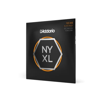 D'Addario NYXL1046BT Nickel Wound Electric Guitar Strings Balanced Tension 10-46