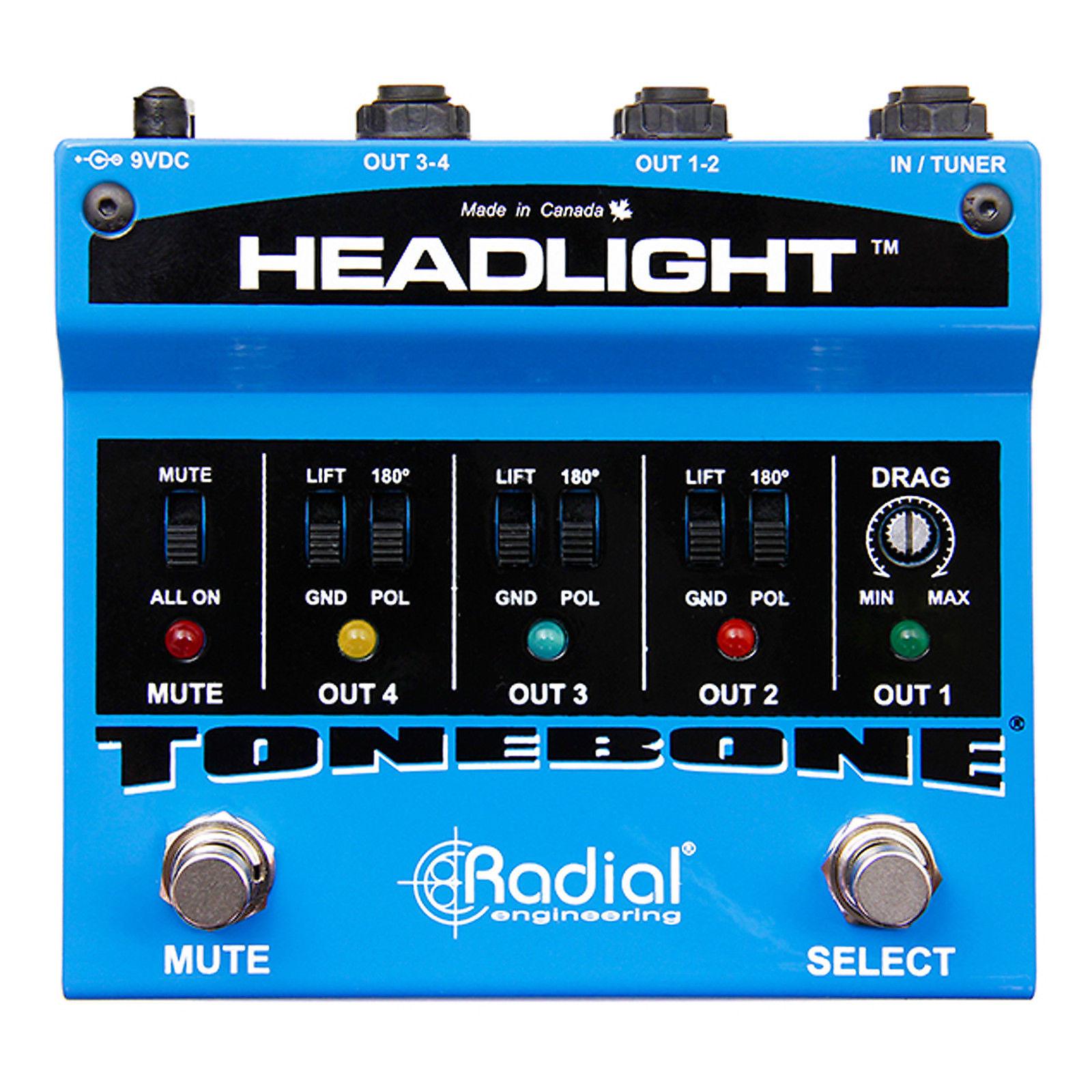 radial tonebone headlight guitar amp selector reverb. Black Bedroom Furniture Sets. Home Design Ideas