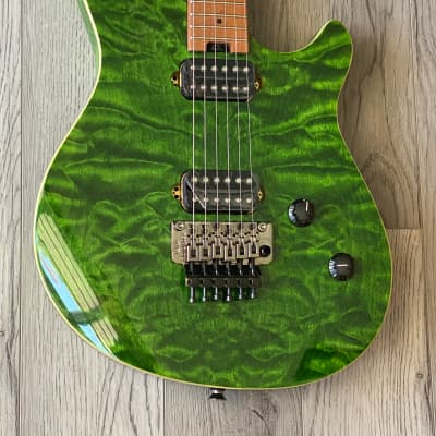 EVH Wolfgang WG Standard QM with Baked Maple Fretboard 2021 Transparent Green for sale
