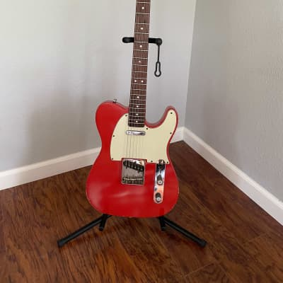 Danocaster Single Cut Faded Fiesta Red for sale