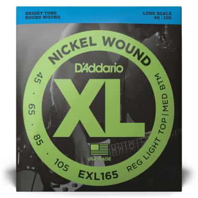 D'Addario EXL165 XL Nickel Bass Strings Light Top/Med Bottom/Long Scale 45-105