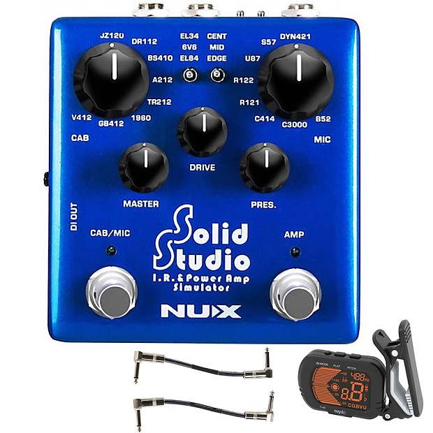 nux solid studio ir power amp simulator guitar effects reverb. Black Bedroom Furniture Sets. Home Design Ideas