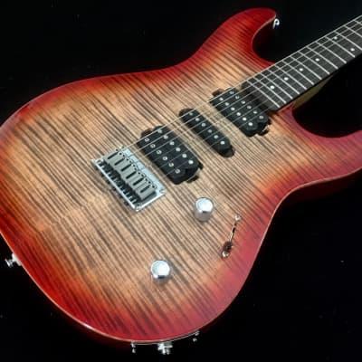 Carvin/Kiesel C66 Contour Lava Caliburst AAA Flame Top Guitar w/Holdsworth Headstock & Gigbag