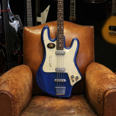Gemelli Layolo Bass 1965 Blue Sparkle for sale