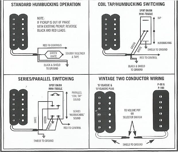 Gibson Humbucker Wiring Diagram : Gibson t humbucker w metal cover reverb